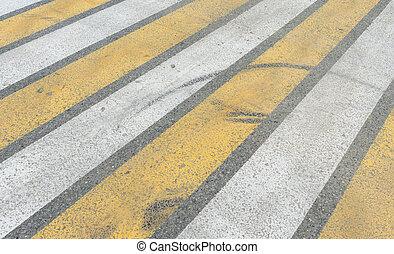 Crosswalk on the road Pedestrian pathway on a street crossing