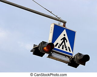 Crosswalk sign light
