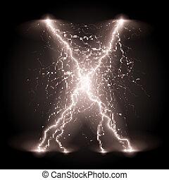 crosswise, lijnen, lightning