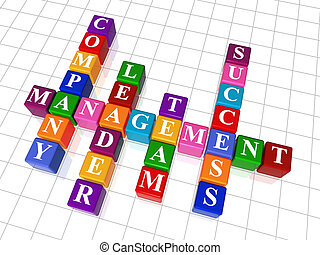 crossword 19 - management - 3d colour cubes crossword -...