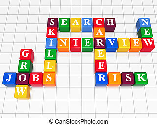 crossword 4 - 3d color boxes like crossword - jobs;...