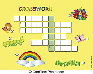 crossword - Crossword game for children for spring