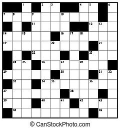 Crossword Empty Boxes Pattern