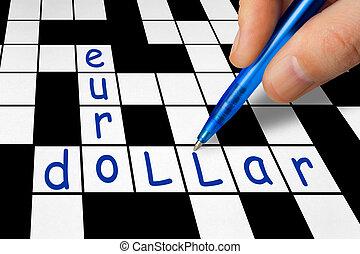 Crossword - euro and dollar