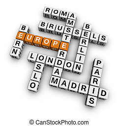 crossword europe - europe  (3D crossword orange series)
