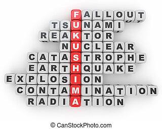 Crossword Fukushima from blocks