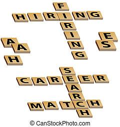 Crossword Hiring Firing Career Search Match - Crossword...