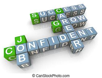 3d render of crossword related to successful job