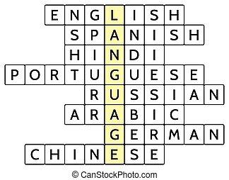 Crossword puzzle for Language