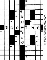 Crossword Puzzle in Growing Business