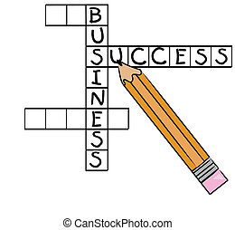 crossword puzzle with successful business