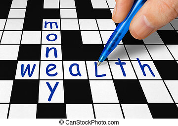 Crossword - wealth and money