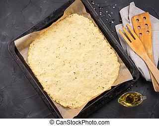crosta, pasta, casalingo, cavolfiore, pizza
