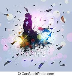 Crow and girl