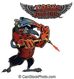 Crow Cartoon Mascot