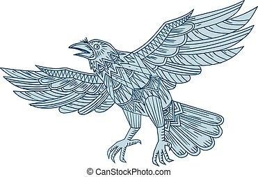 Crow Flying Mandala