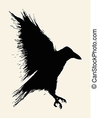 Crow - Illustration of a crow