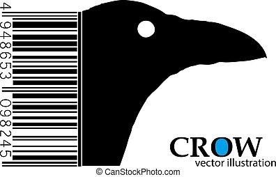 crow., silueta