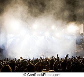 crowd, an, concert