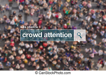 Crowd attention web search box