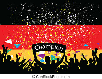 crowd cheer germany