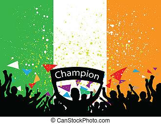 crowd cheer ireland