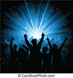 crowd, disko
