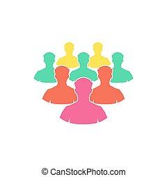 Crowd Icon Vector