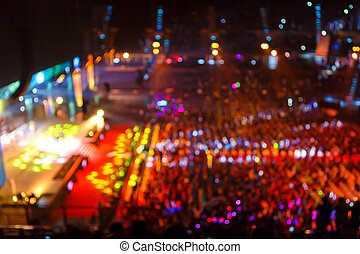 Crowd  in front of concert stage
