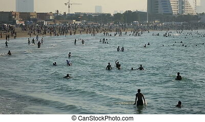 crowd in Jumeirah Beach