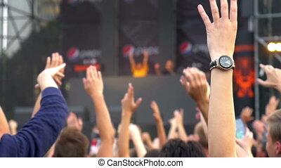 Crowd light concert