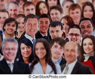 Crowd of a business people.