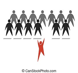 crowd of abstract web personages