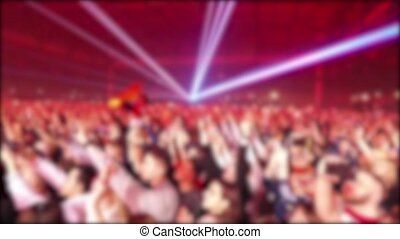 Crowd Of Anonymous People At Concert