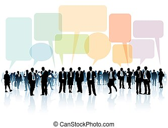 Crowd of businesspeople