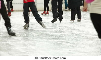 crowd of Ice skaters