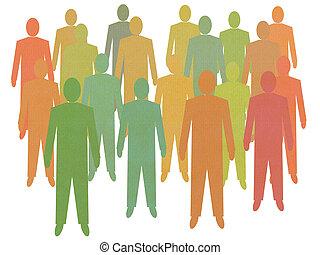 Crowd of men - Crowd sourcing