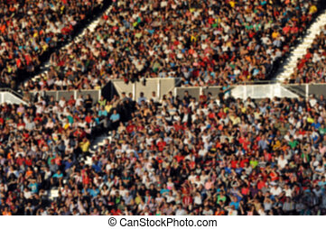 Crowd of people at a football match