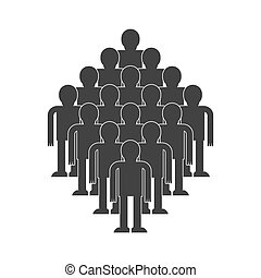 Crowd of people icon. throng isolated. Society Vector illustration