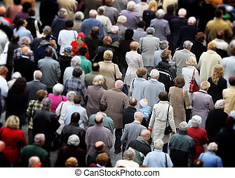 crowd of people in the city