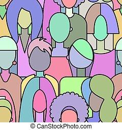 seamless pattern girls