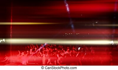 crowd on party concert