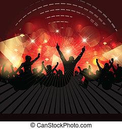crowd, party, hintergrund