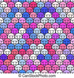 Crowd seamless pattern people
