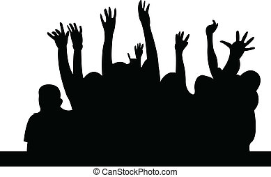 Crowd silhouette - vector