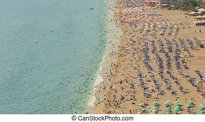 famous place cleopatra beach - crowd spending time in the...