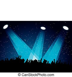 Crowd spotlight
