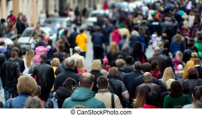 crowd, straße