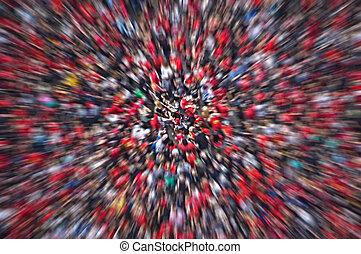 crowd, verwischen