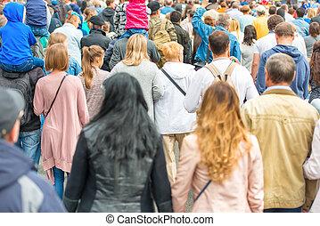 crowd, von, leute